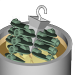 Trauben im Keramikbad